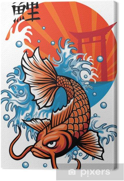 Obraz na płótnie Japonia nigdy ryby z pakietów kanji - Azja