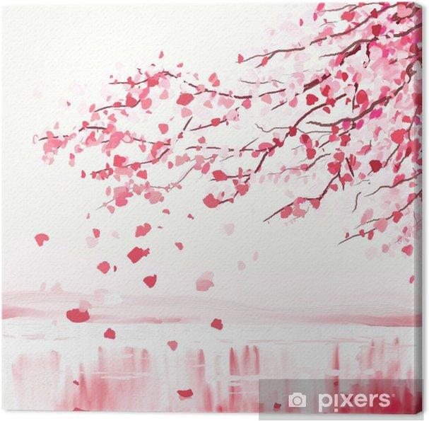 Obraz na płótnie Japoński wiśniowe drzewo - Style