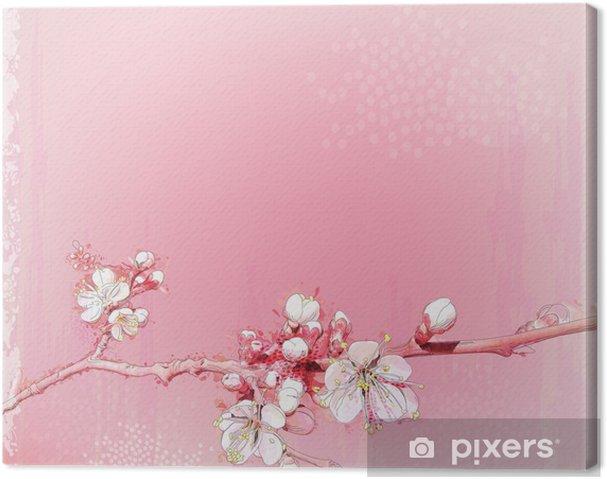 Obraz na płótnie Japoński wiśniowe kwiaty w pełnym rozkwicie - Tematy