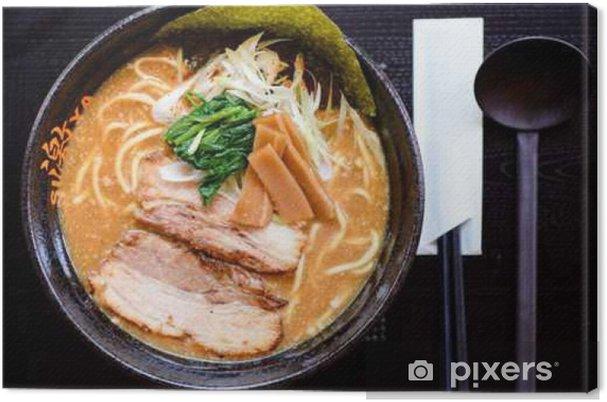 Obraz na płótnie Japońskie jedzenie serwowane na stole - Jedzenie