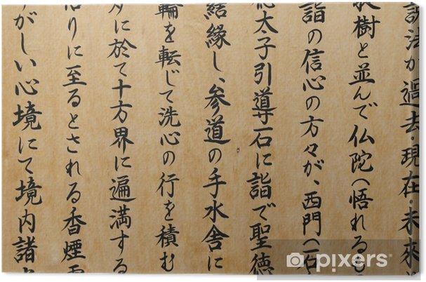 Obraz na płótnie Japońskie kanji - Znaki i symbole