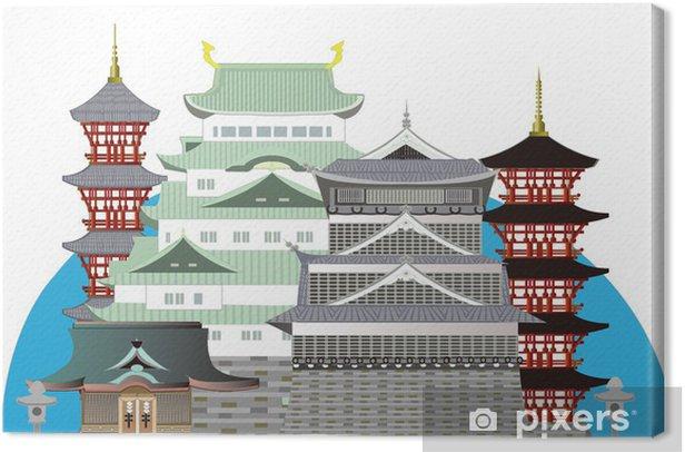 Obraz na płótnie Japońskie stare zamki i świątynie 日本 の ラ ン ド マ ー ク - Azja