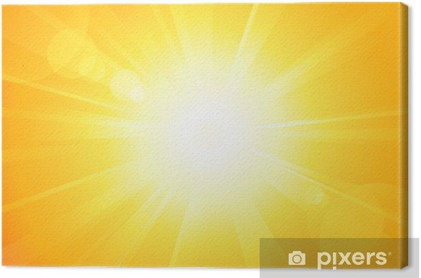 Obraz na płótnie Jasne słońce wektor z flary obiektywu - Niebo