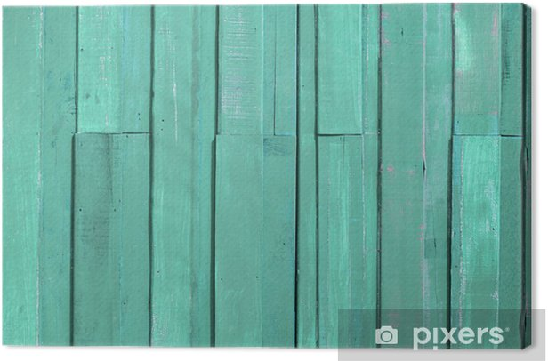 Obraz na płótnie Jasnozielony kolor farby ściany plank - Tekstury
