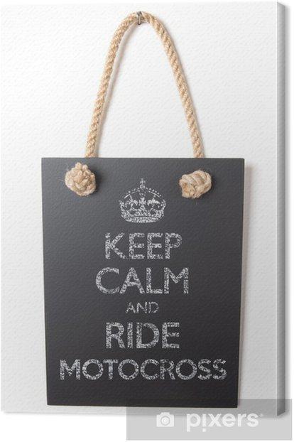 Obraz na płótnie Jazda motocross - Znaki i symbole