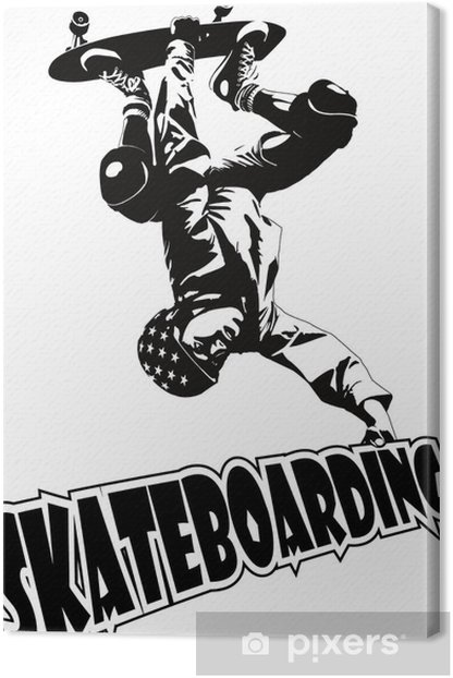 Obraz na płótnie Jazda na deskorolce - Skateboarding