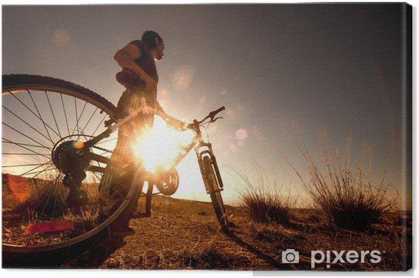 Obraz na płótnie Jazda na rowerze i sporty na wolnym powietrzu. - Kolarstwo