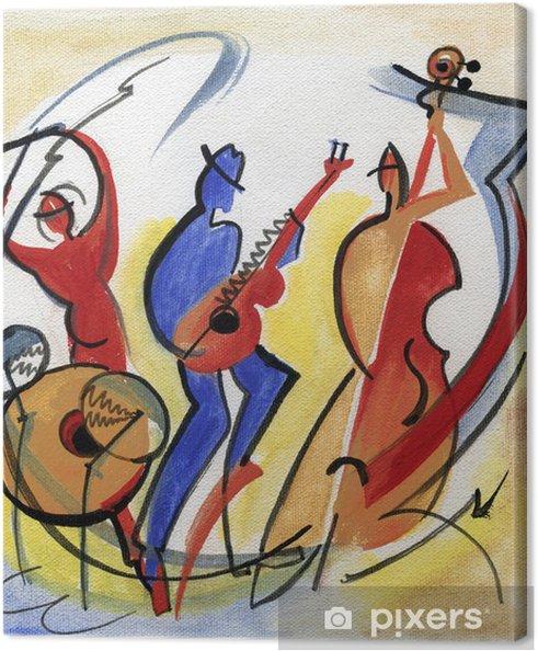 Obraz na płótnie Jazz Trio odtwarzanie muzyki - Rozrywka
