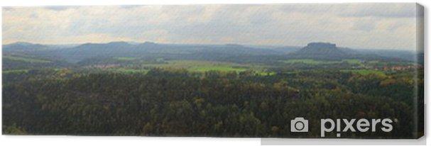 Obraz na płótnie Jeden z najpiękniejszych widoków w Elbe Sandstone Mountains - Sporty na świeżym powietrzu