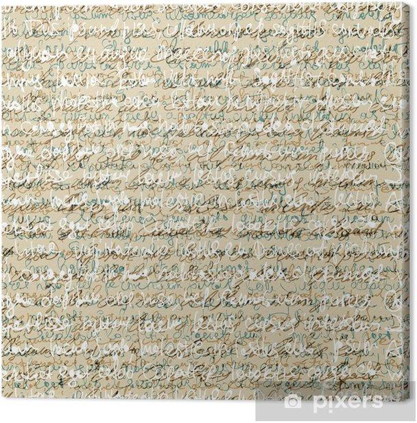 Obraz na płótnie Jednolite abstrakcyjny wzór pisma. Wektor, EPS10 - Tła