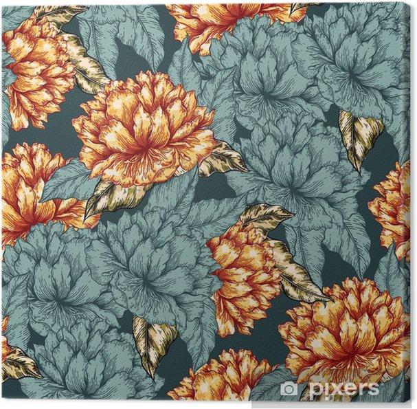 Obraz na płótnie Jednolite kwiatowy wzór graficzny - Rośliny i kwiaty
