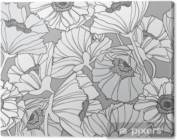 Obraz na płótnie Jednolite kwiatowy wzór. Tło z kwiatów maku. - Tła