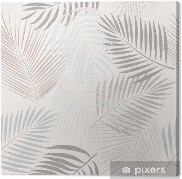 Obraz na płótnie Jednolite wzór z liści palmy. - Zasoby graficzne
