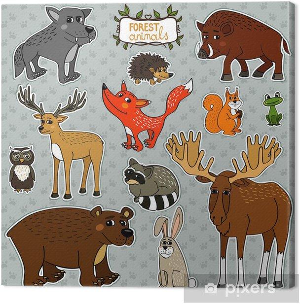 Obraz na płótnie Jeleń lisa zwierzęta sowa - Znaki i symbole