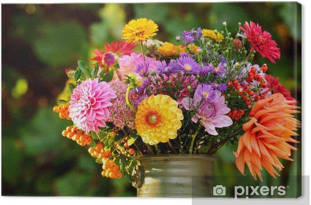 Obraz na płótnie Jesień Bouquet 2 - Kwiaty