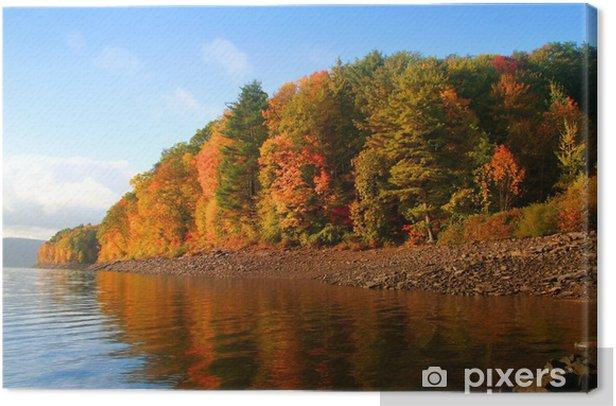 Obraz na płótnie Jesienią odbicie - Pory roku