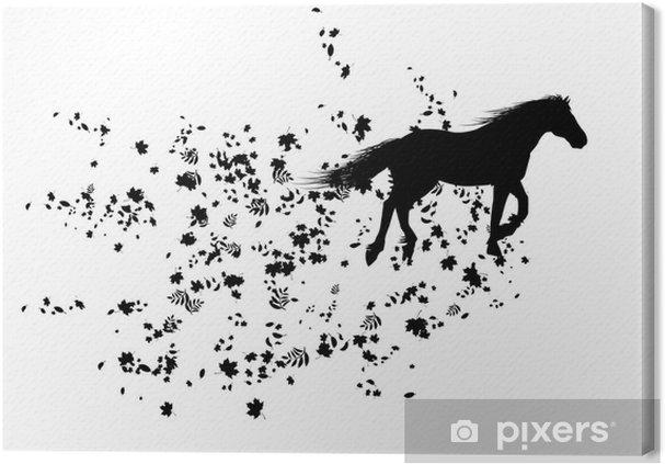 Obraz na płótnie Jesienny koń - Pory roku