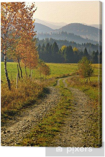 Obraz na płótnie Jesienny krajobraz - Drzewa