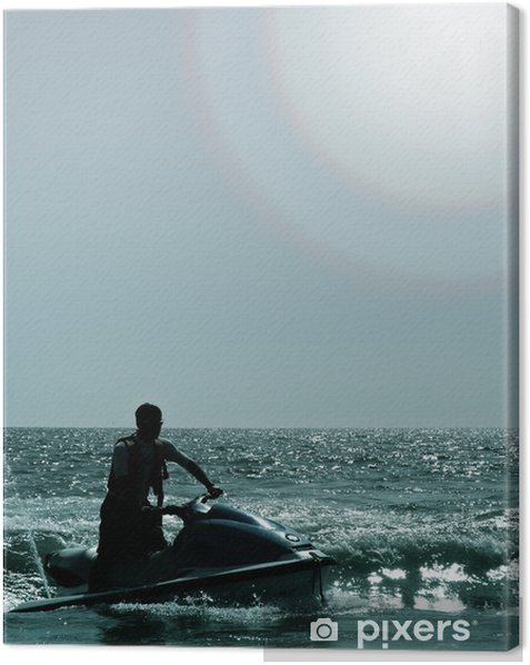 Obraz na płótnie Jet narciarz w oceanie - Wakacje