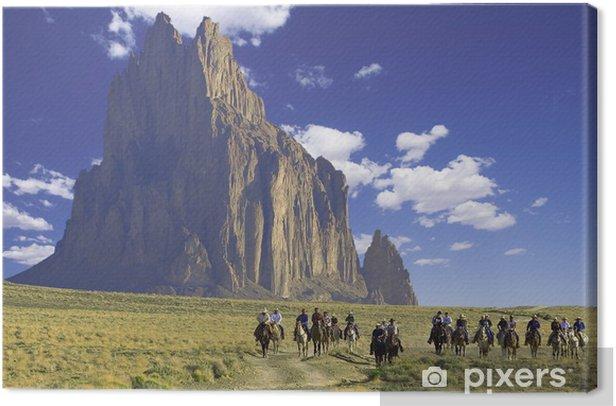 Obraz na płótnie Jeźdźców konnych - Krajobraz wiejski