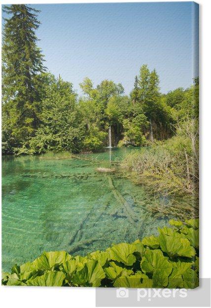 Obraz na płótnie Jeziora Plitwickie - Woda