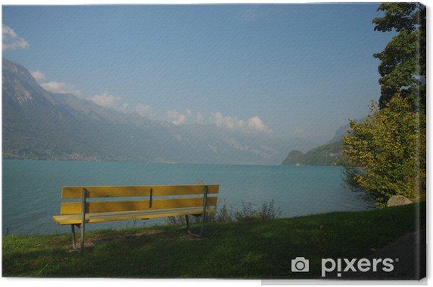 Obraz na płótnie Jezioro Brienz w pobliżu Interlaken w Szwajcarii - Wakacje