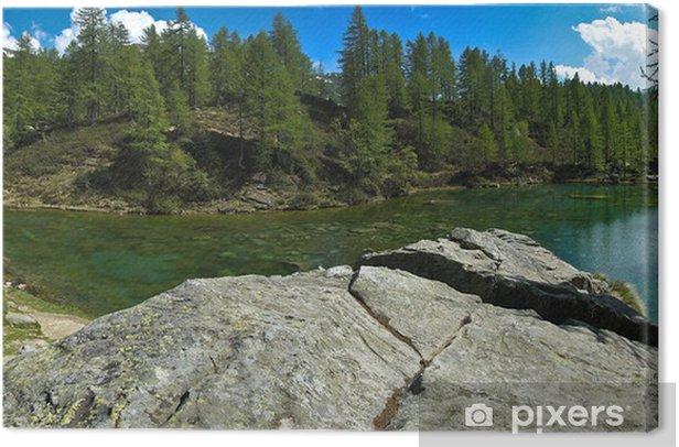 Obraz na płótnie Jezioro czarownic (niebieskie jezioro) devero Alp - Europa
