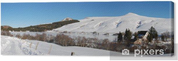 Obraz na płótnie Jezioro Guéry w zimie (63) - Wakacje