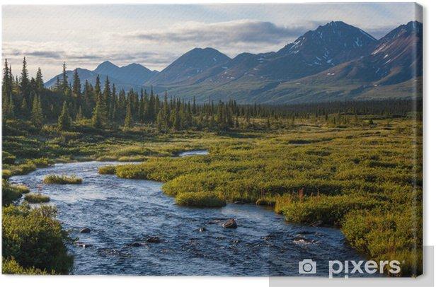 Obraz na płótnie Jezioro na Alasce - Góry