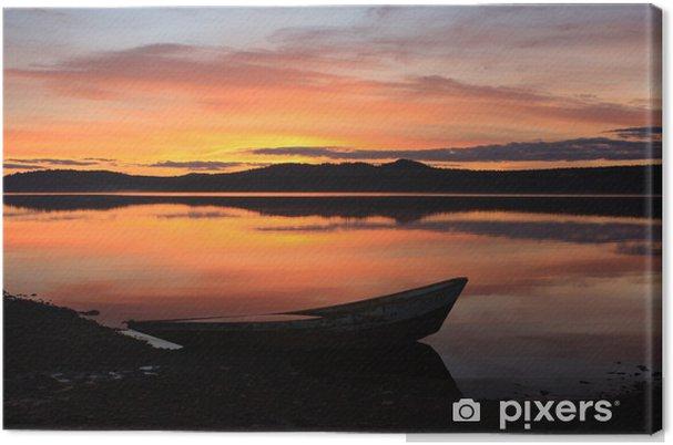 Obraz na płótnie Jezioro Zyuratkul, spadek. Południowe Góry Uralu. - Pod wodą