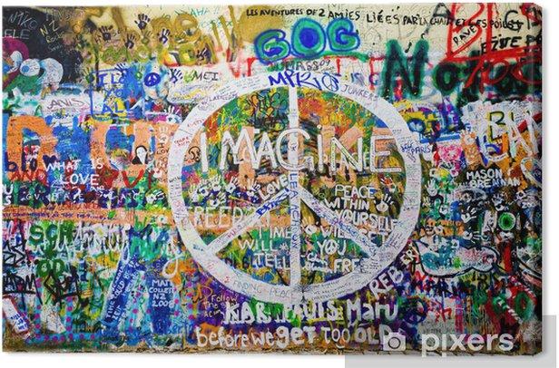 Obraz na płótnie John Lennon ściana (Praga) - symbol pokoju (take 1) - Tematy
