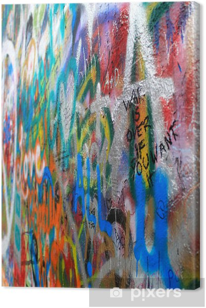 Obraz na płótnie John Lennon wall - Miasta europejskie