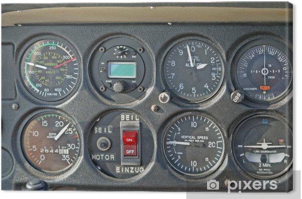Obraz na płótnie Kabina pilota - Transport powietrzny