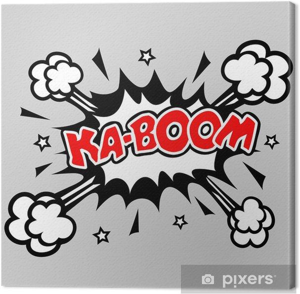 Obraz na płótnie Kaboom - Comic Explosion Sprechblase - Tematy