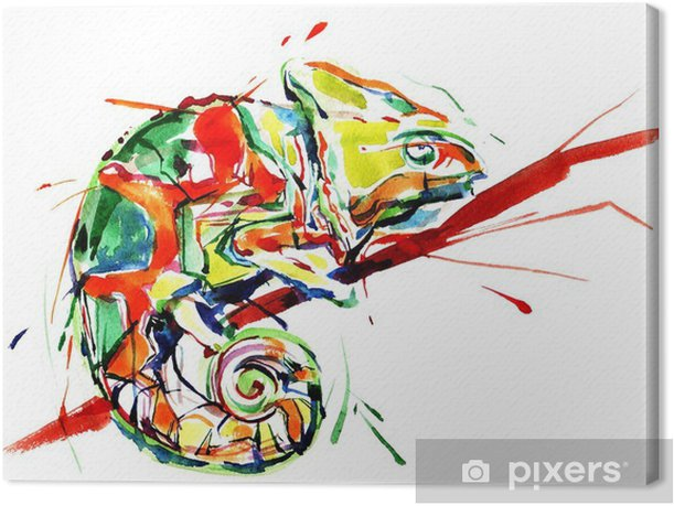 Obraz na płótnie Kameleon - Nauka i natura