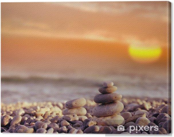 Obraz na płótnie Kamienie na plaży - Tematy