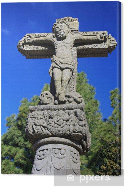 Obraz na płótnie Kamienny krzyż w miejscowości Tejeda - Gran Canaria - Budynki użyteczności publicznej