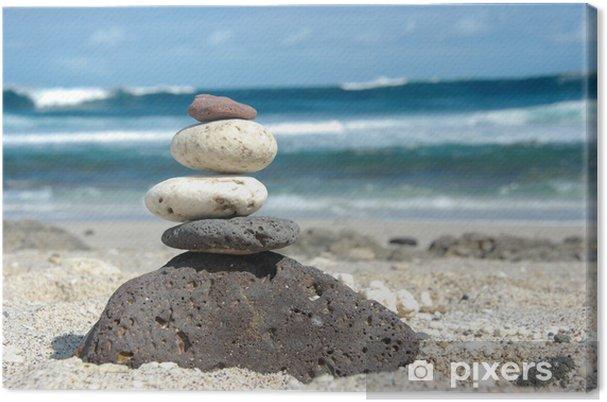 Obraz na płótnie Kamyki na plaży - Religie