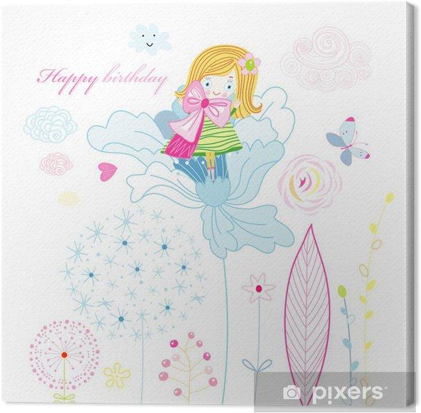 Obraz na płótnie Kartkę z życzeniami z okazji urodzin - Świętowanie