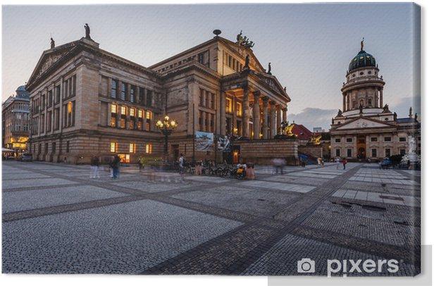 Obraz na płótnie Katedra Francuska i Sala Koncertowa na placu Gendarmenmarkt w th - Miasta europejskie