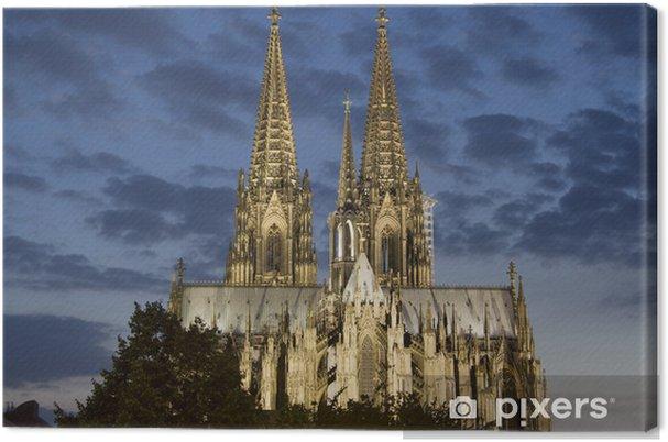 Obraz na płótnie Katedra w Kolonii w nocy - Europa