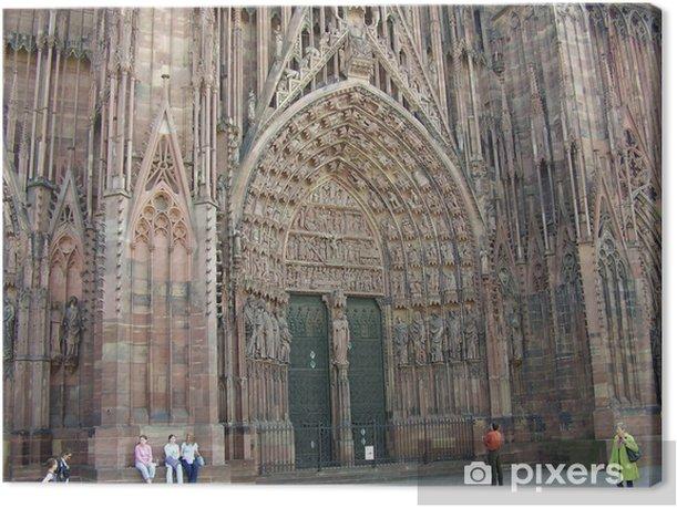 Obraz na płótnie Katedra w Strasburgu, wejście - Europa