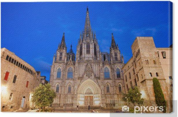 Obraz na płótnie Katedry w Barcelonie w nocy - Tematy