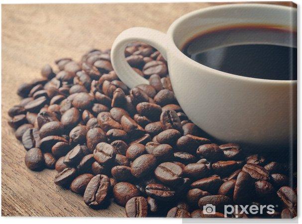 Obraz na płótnie Kawa na grunge tle drewniane - Tematy