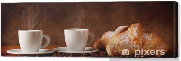 Obraz na płótnie Kawa ze świeżych rogalików - Tematy