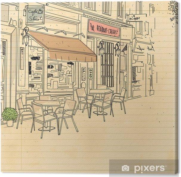 Obraz na płótnie Kawiarnia ulica - Infrastruktura