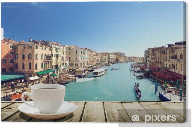 Obraz na płótnie Kawy na stole i Wenecji w czasie zachodu słońca, Włochy - Tematy