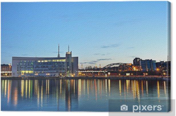 Obraz na płótnie Kiel port wieczorem - Europa