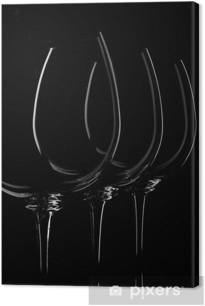 Obraz na płótnie Kieliszki do wina na czarny - Akcesoria