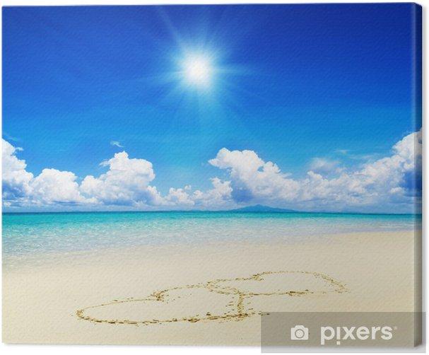 Obraz na płótnie Kiery rysowane w piasek - Woda